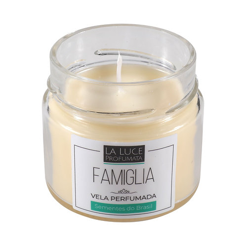 Vela Perfumada FAMIGLIA (patchouli, caramelo e especiarias) 130 g