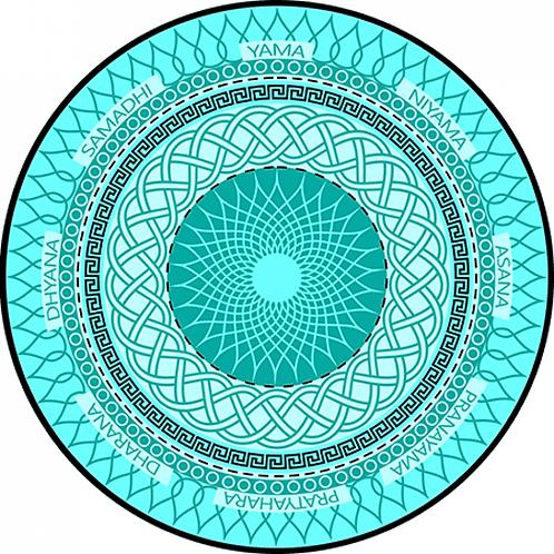 Tapete Mandala Yoga 8 passos Acqua
