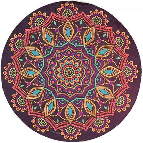 Manta Mandala Aveludada Roxa - Multifuncional