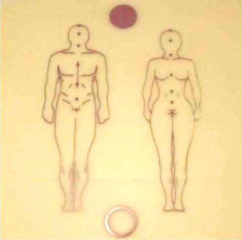 Placa radiônica - Figura Humana