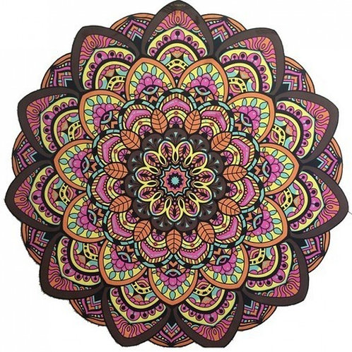 Tapete Mandala Lótus Colorido