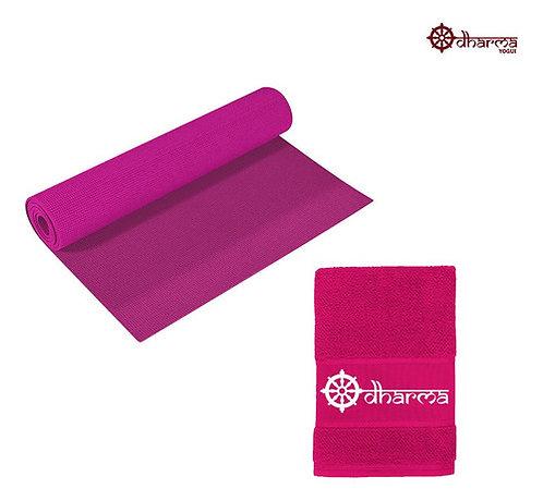 Yoga Mat Pink Com Toalhinha Rosa De Acompanhamento