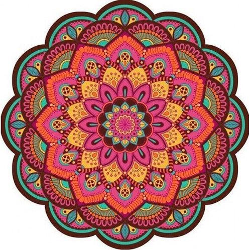 Tapete Mandala Floral Colorido