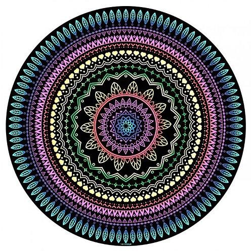 Manta Mandala Aveludada Multicolorida - Multifuncional