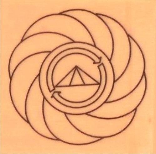 Placa radiônica - Turbilhão com Prosperador