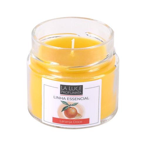 Vela perfumada 100% óleo essencial (Laranja doce)