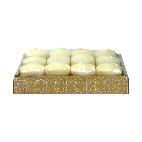 Caixa com 12 velas (3,5 cm) na cor Marfim