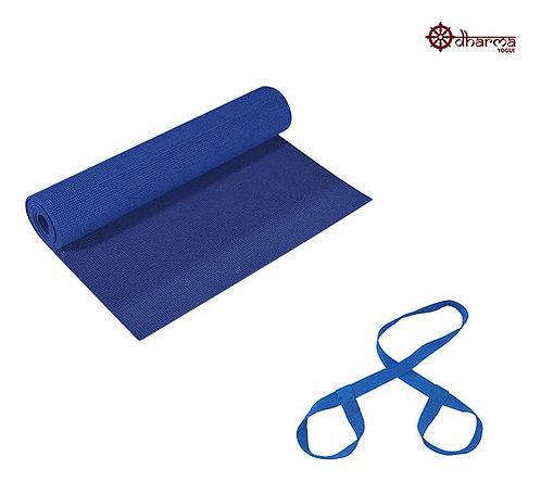 Tapete Pilates Azul Céu Com Alça De Transporte