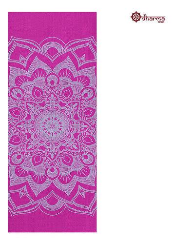 Tapete Yoga Rosa Estampa Mandala 1,73m - 4mm