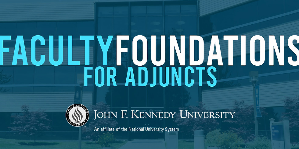 JFKU Faculty Foundations for Adjuncts (FALL SESSION)