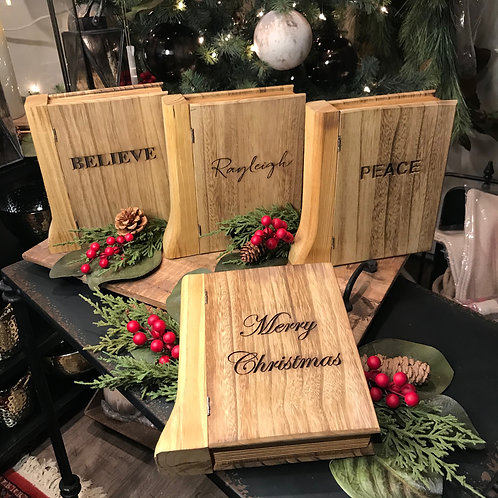 Personalized Wooden Book Box
