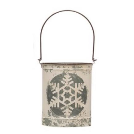 Metal Snowflake Lantern (L)
