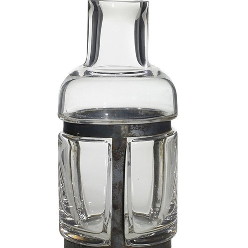 District Glass and Metal Vase (M)