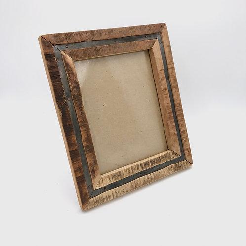 Wood Metal Photo Frame Large