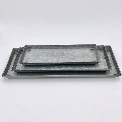 Galvanized Trays Set of 3