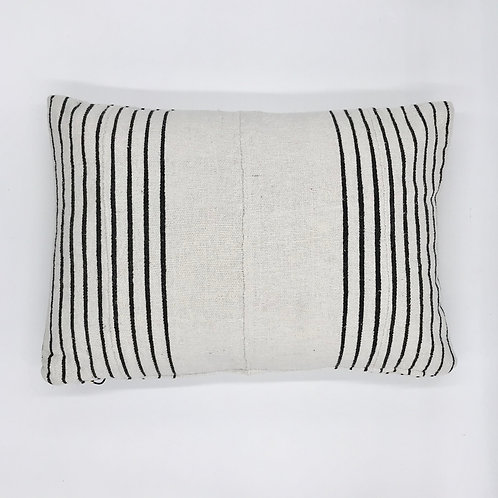 Cotton Black Stripe Pillow