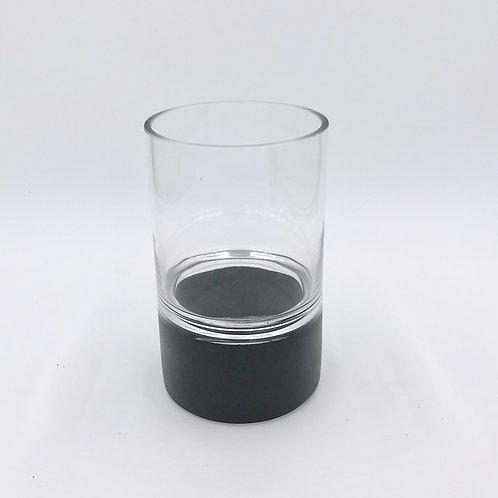 Glass with Metal Look Votive/Vase (Med)