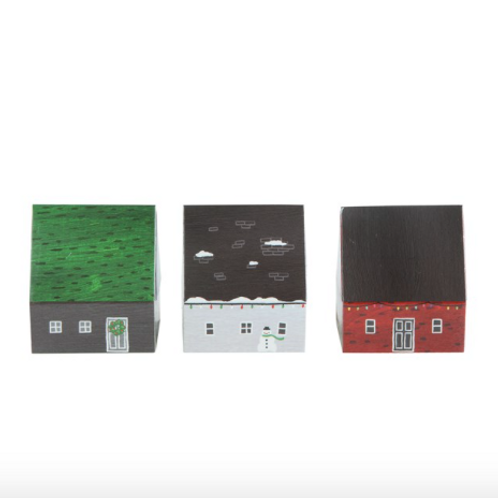 Holiday Matchbox Village Set of 3