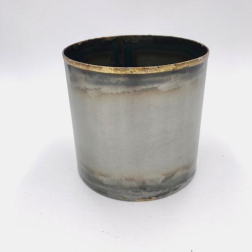 Metal Black/Gold Burnished Pot