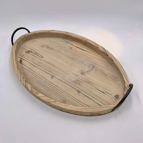Oval Wood Tray Large