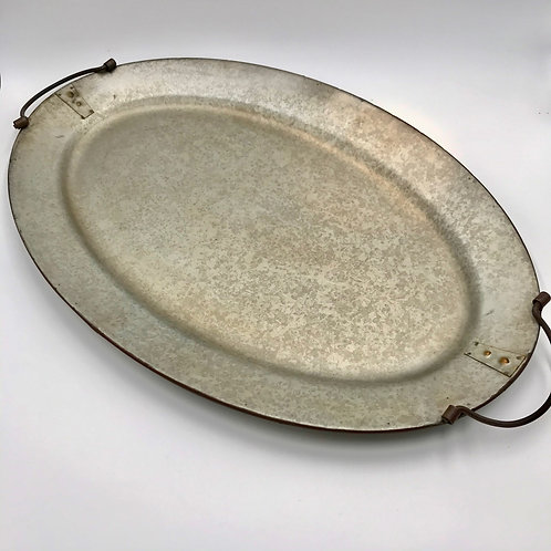 Galvanized Metal Tray (Oval)