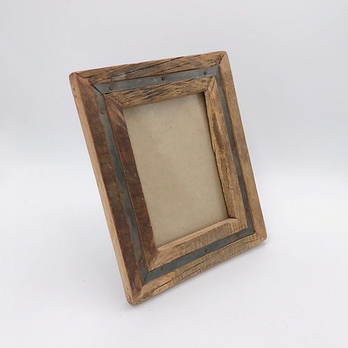 Wood Metal Photo Frame Medium