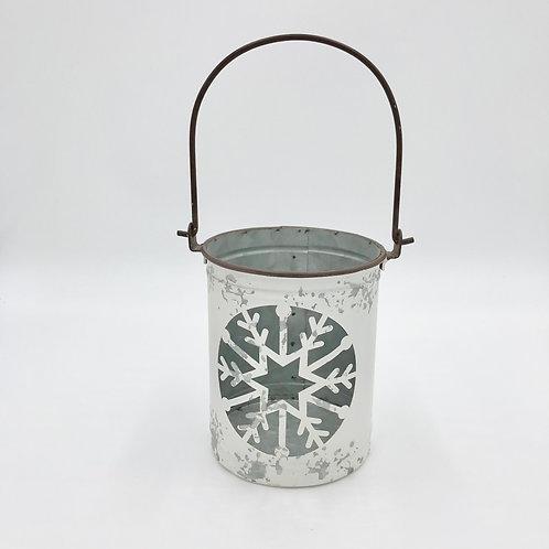 Metal Snowflake Lantern (S)