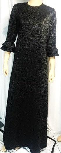 Modest Robe Black Sparkle Plus Size