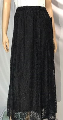 Modest Skirt Black Lace Plus Size
