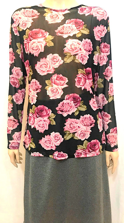 Modest Top Sheerly Rosey