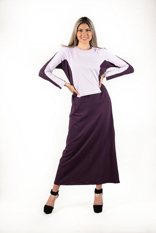 Modest Robe Hidden Nursing Flap Lilac & Purple