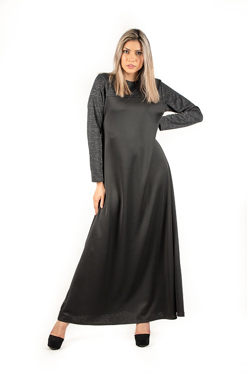 Modest Robe Black With Black Sparkle