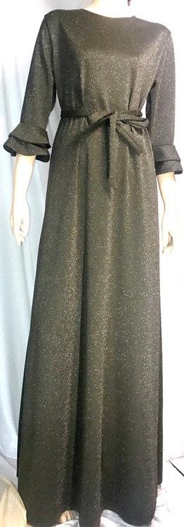 Modest Robe Olive Sparkle Plus Size