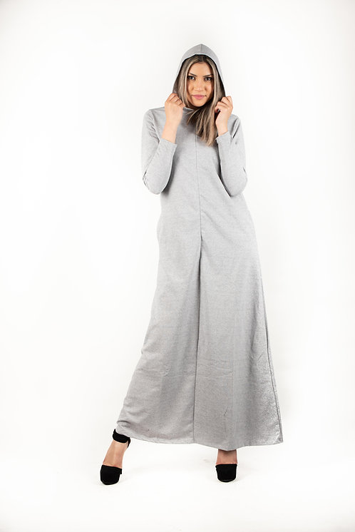 Modest Robe Front Zipper Hoodie French Terry Cotton - 5 Colors