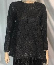 Modest Top Black Lace