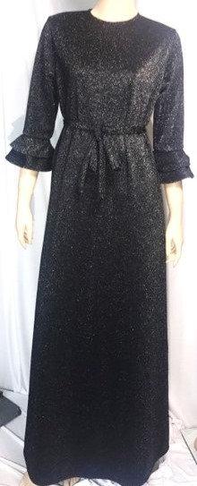 Modest Robe Black Sparkle
