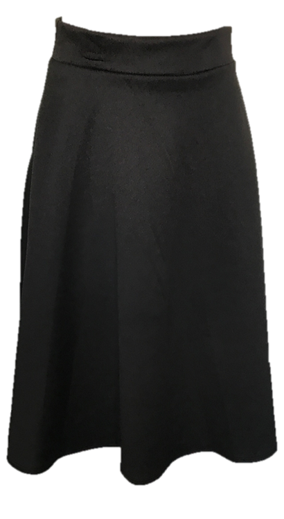 Modest Skirt Midi Basic Black