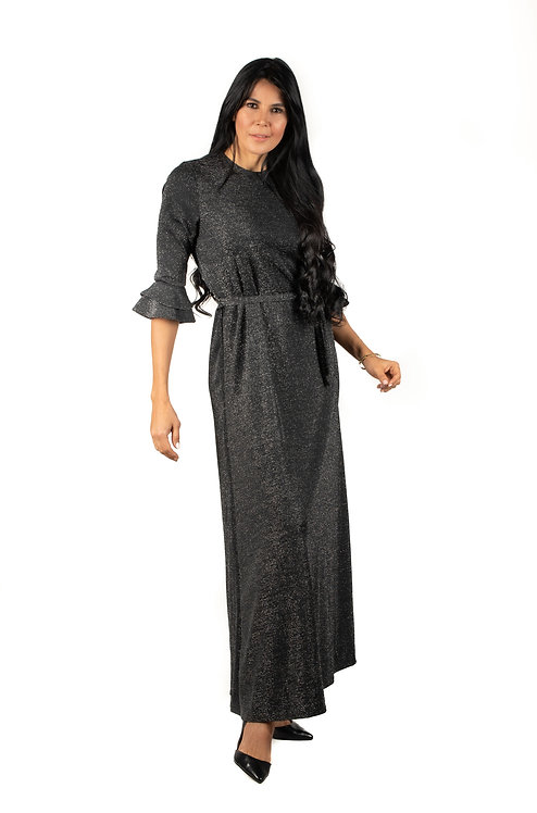 Modest Robe Gray Sparkle Plus Size