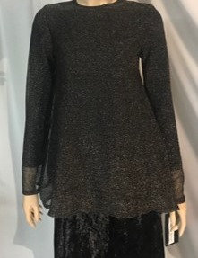Modest Top Black & Gold Speckle