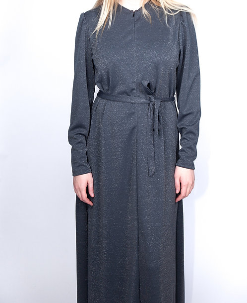 Modest Robe Front Zipper Solid Plus Size