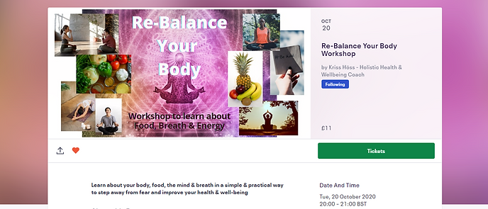 Re-Balance Your Body - Workshop - event