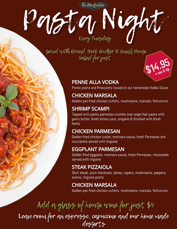 Copy of Pasta Restaurant Menu Template (