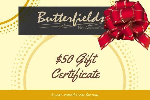 Butterfields Gift Card
