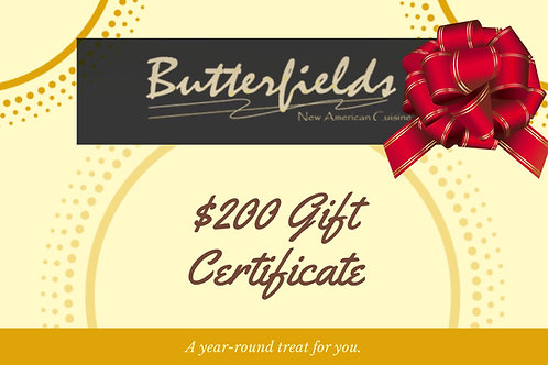 Butterfields Gift Card