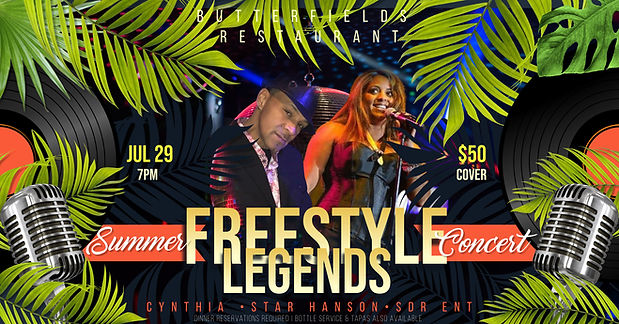 July 29 Freestyle Concert at Butterfield