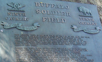 Buffalo Soldier Field Monument