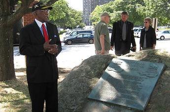 Sgt. Sanders H. Matthews, Sr. at Buffalo Soldier Field Memorial