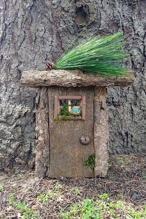 Fairy Door with Bird Nest
