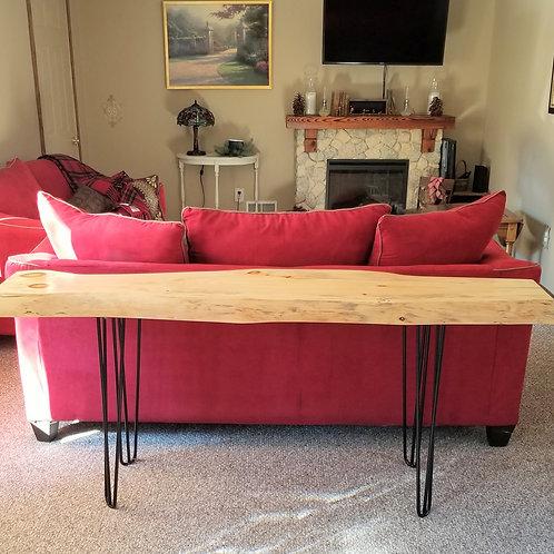 sofa table, rustic sofa table, white pine furniture, rustic furniture