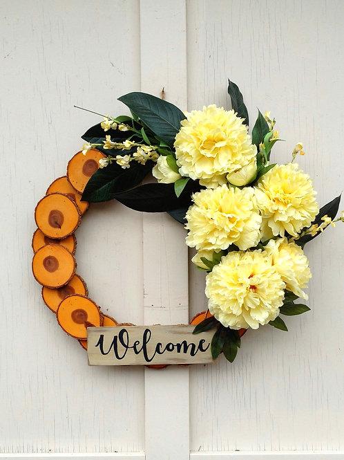 Spring wreath, Floral wreath, Peonies